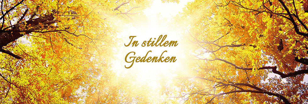 Trauer - In stillem Gedenken