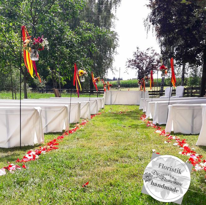 Freie Trauung auf der Wiese, Landhote Hallnberg