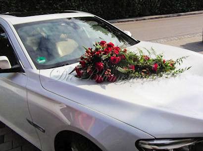 Blumengesteck für Brautauto