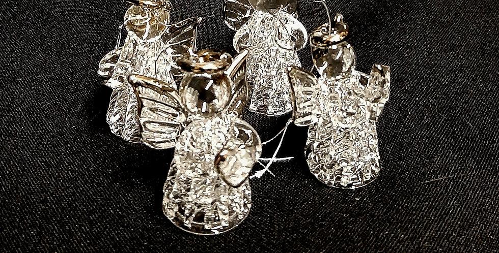 Mundgeblasene Christbaum Anhänger Engel aus Glas