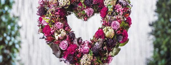Blüten Herz offen gerade