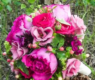 Duftender Brautstrauß mit Englischen Rosen