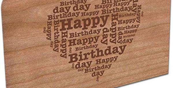Holzpost Grußkarte -Happy Herz