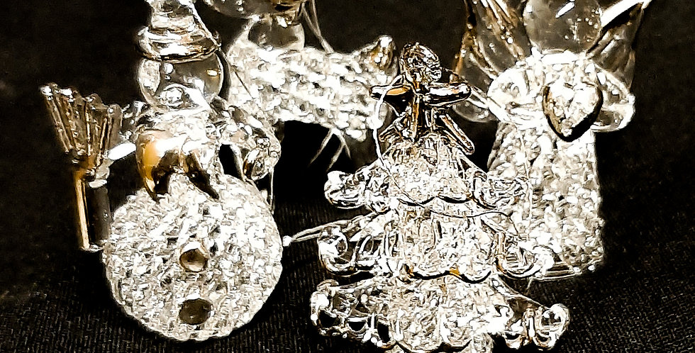Mundgeblasene Christbaum Anhänger Figuren aus Glas