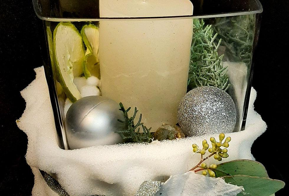 Kerzenglas Snowy