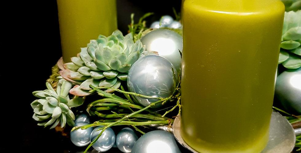 Adventskranz Tannengrün
