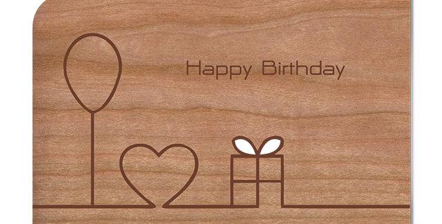 Holzpost Grußkarte -Happy Birthday II