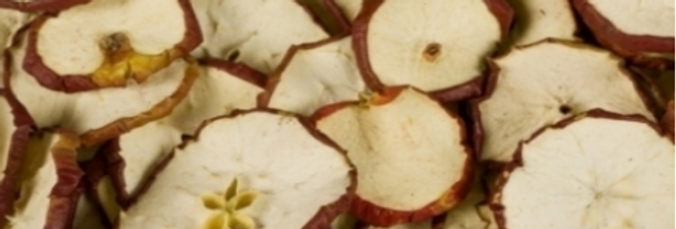 Apfelscheiben rot
