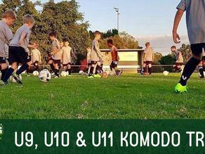 U9, U10 & U11 Komodo Trials for 2021