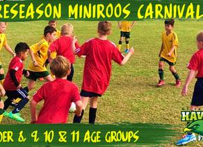 Preseason MiniRoos Carnivals