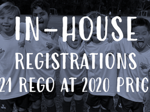 2021 In-House Registration at 2020 Fees