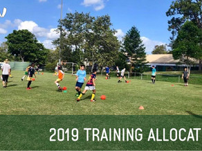 Training Allocations for 2019
