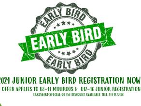 Junior EARLY BIRD Registration Opens