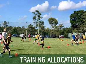 Training Allocations for 2020