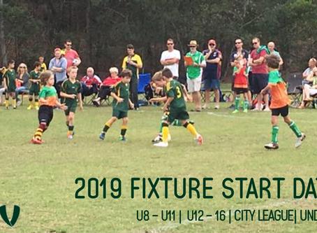 2019 Fixture Start Dates