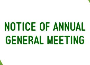Notice of Annual General Meeting - POSTPONED