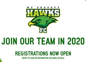 2020 Season Registrations NOW OPEN