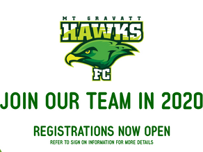 2020 Season Registrations NOW OPEN