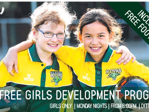 FREE Girls Only Development Program - Open All Girls from All Clubs
