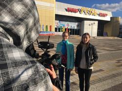 Вася и Ира снимают рубрику Кино.ру