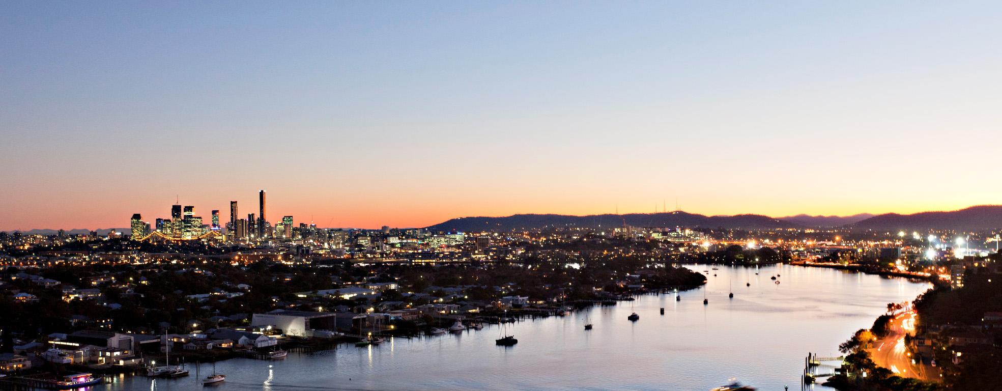 Rivers Edge - Hamilton - Night Aerial Shot 19 - 240614