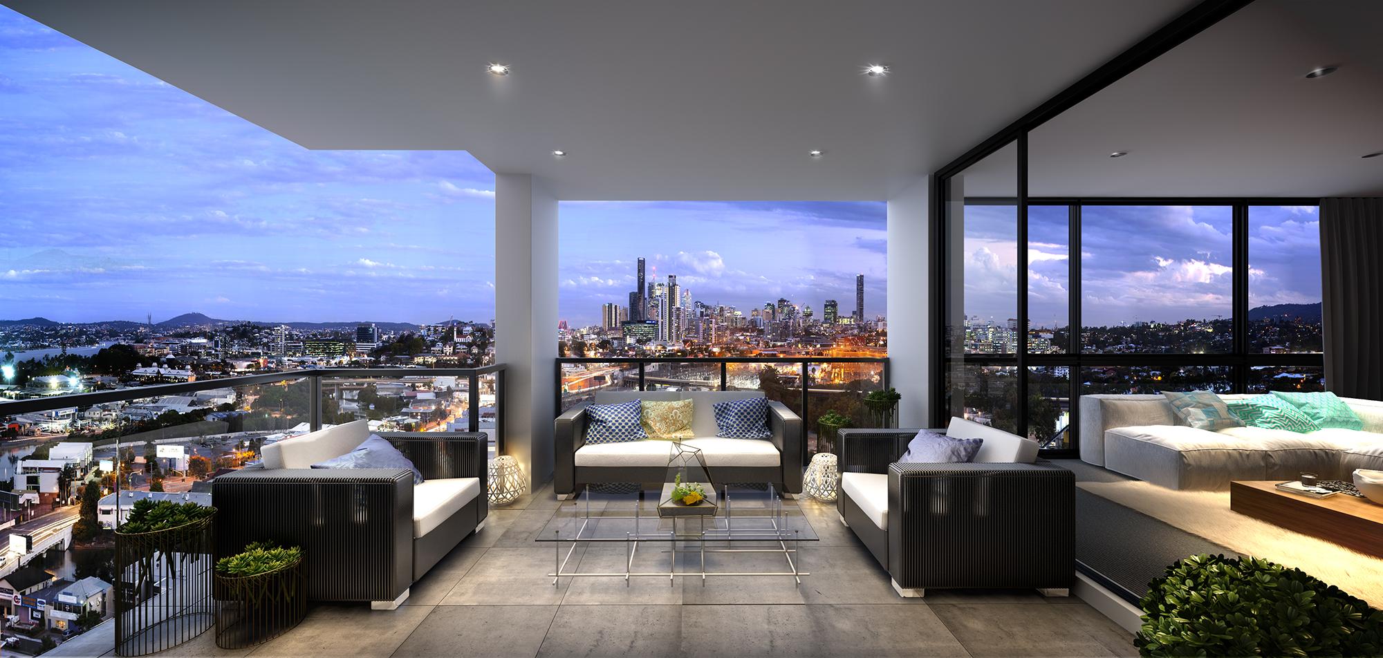 Albion - Hudson balcony