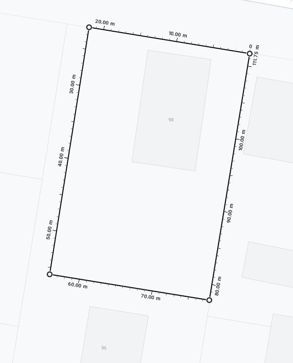 Block Dimentions and frontage
