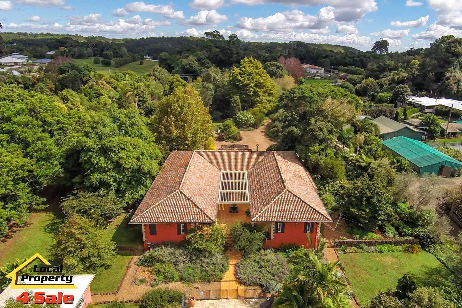 182 Long Rd Tamborine Mountain - Rear House Aerial