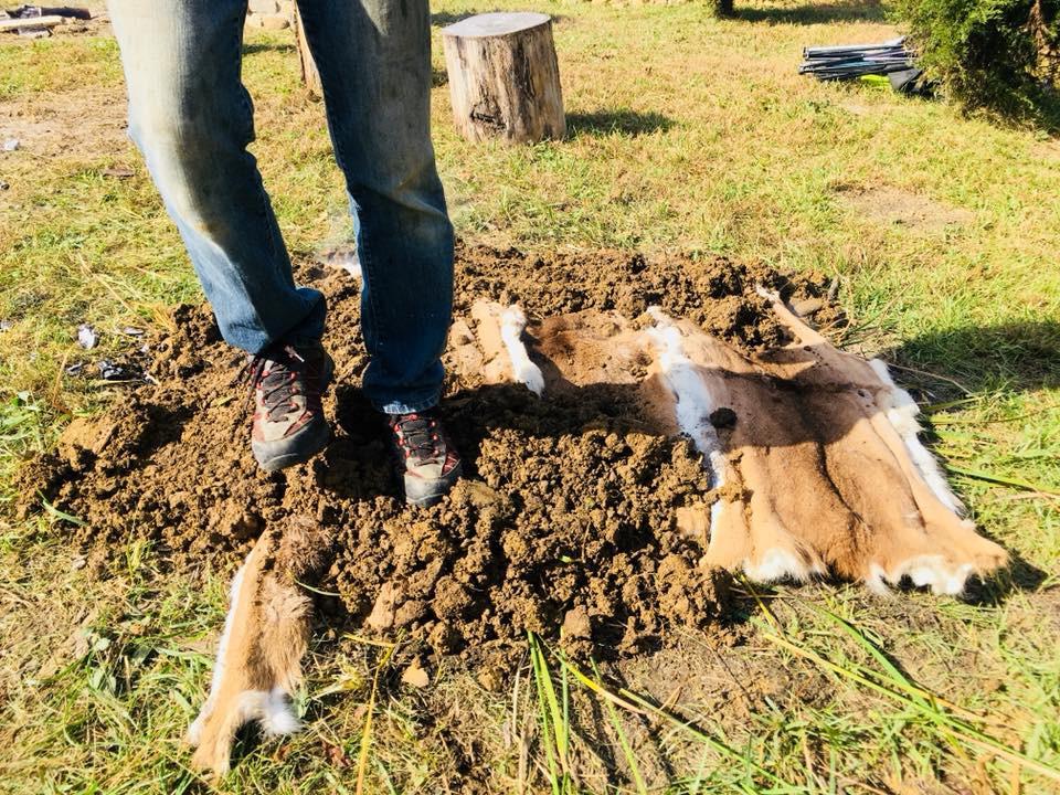 burying steam pit