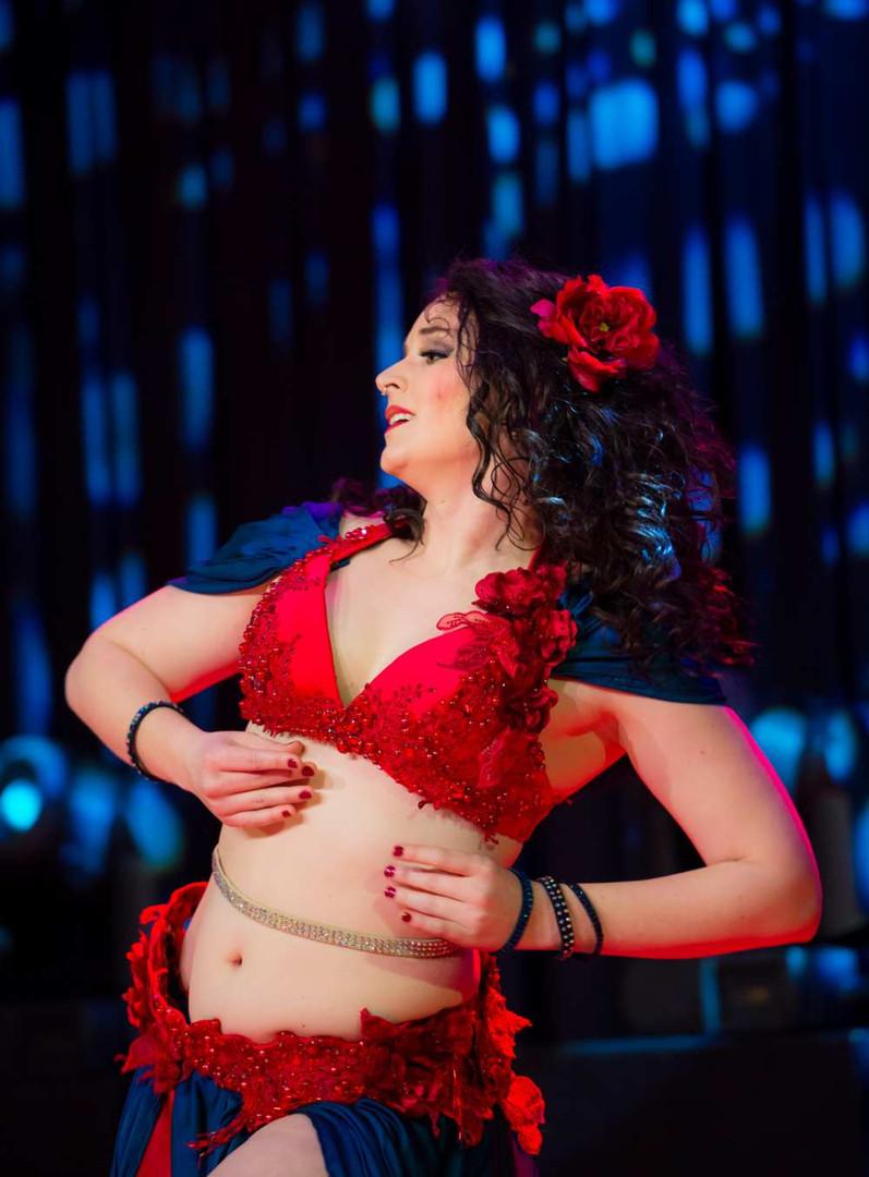 Passionate Belly Dancer in red Tara Yasmin