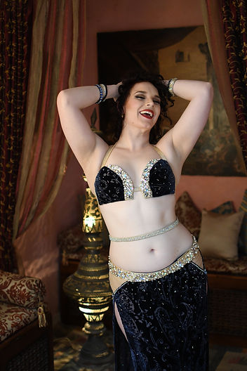 Laughing Belly Dancer