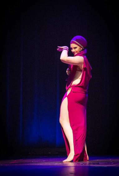 Baladi Belly Dancer in pink Tara Yasmin
