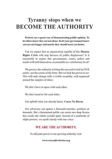 wecanlivebetter become the authority protest flyer anti lockdown mask vaccine covid 19