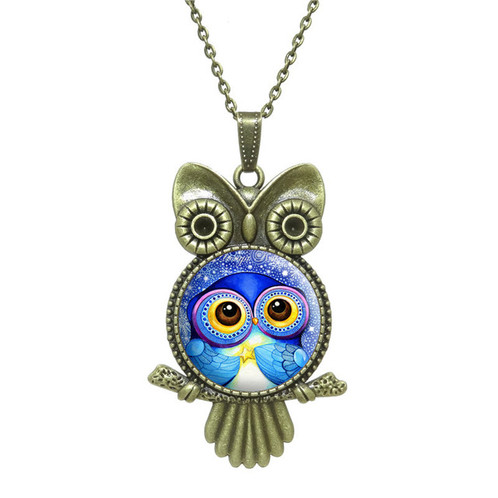 Owl pendant necklace amazing jewelrysparkles treasure box owl pendant necklace aloadofball Image collections