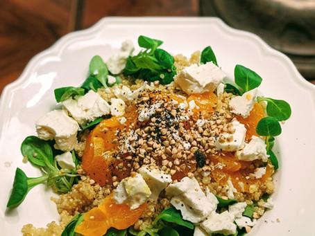 Quinoa Mandarinen Salat mit Feta