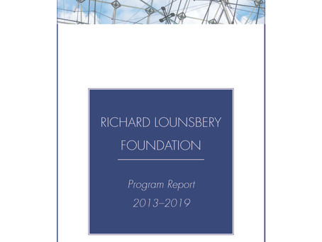 FOUNDATION RELEASES  2013 - 2019 PROGRAM REPORT