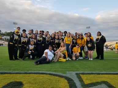 TBS & KKPsi and alumni after a football game