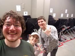Brothers assisting the KSU Wind Ensemble with rehearsal teardown!