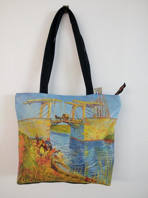 sac cabas shopping pont Langlois van Gogh muriel-m