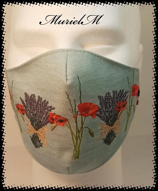 Masque Lavande Coquelicot Fond Jean muriel-m