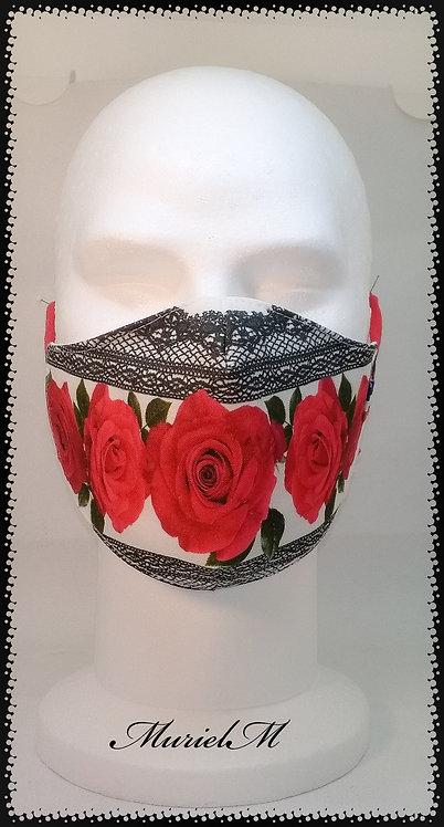 Masque Roses Rouges et Dentelle muriel-m