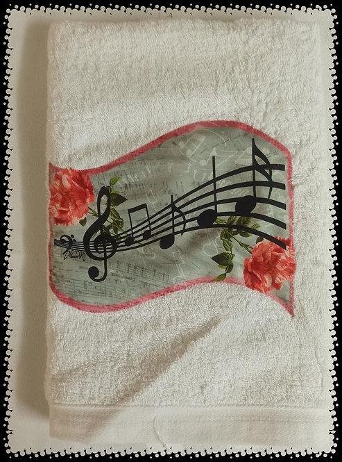 serviette éponge note de musique
