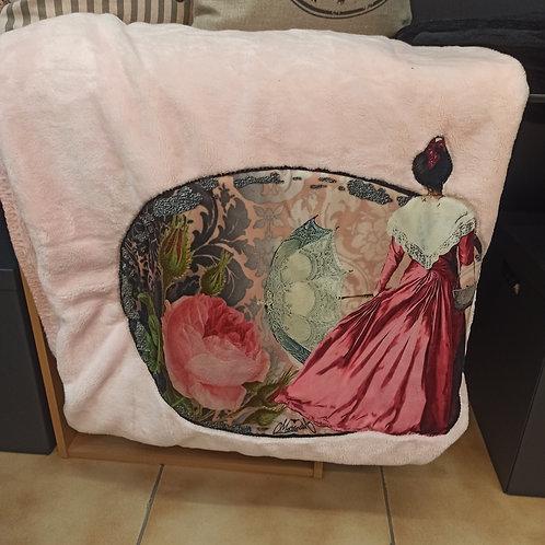 plaid velours arlésienne ombrelle rose Camargue muriel-m