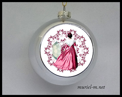 boule de noël arlésienne rose mandala