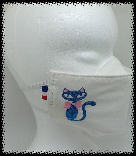 Masque Chat Bleu Brillant