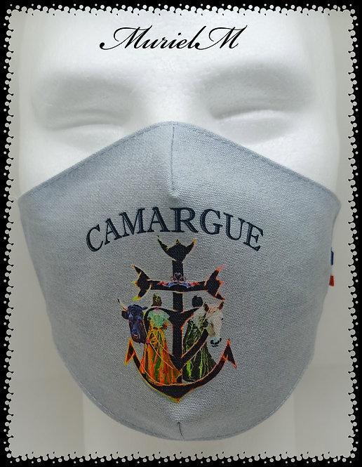 Masque croix de Camargue Arlésiennes muriel-m