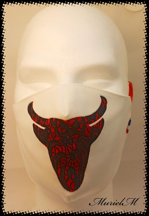 Masque Taureau Rouge muriel-m