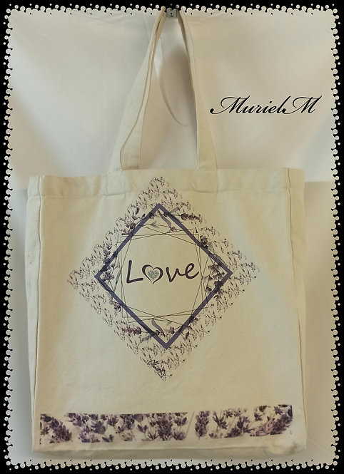 sac cabas lavande love