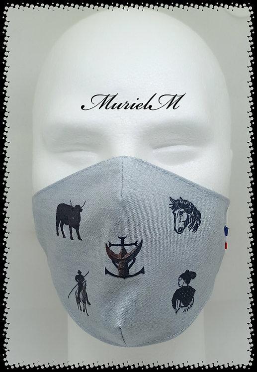 Masque Emblème Camargue