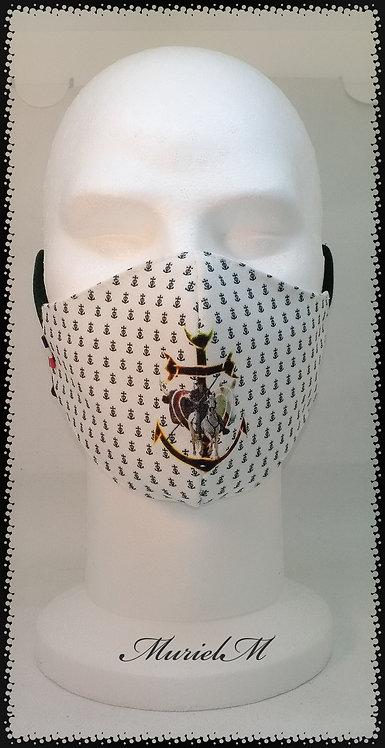 masque croix de Camargue taureau cheval gardian